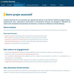 Notre projet associatif - Institut Renaudot