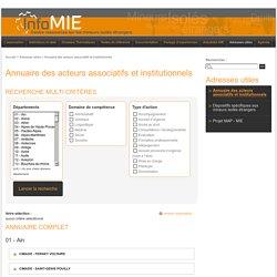 Annuaire des acteurs associatifs et institutionnels