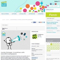 Journée d'échanges : le numérique, outils associatifs et pédagogiques