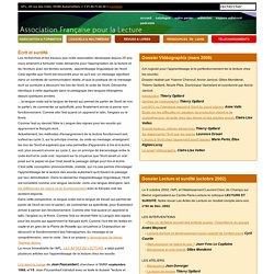 Associatio Française pour la lecture : écrit et surdité