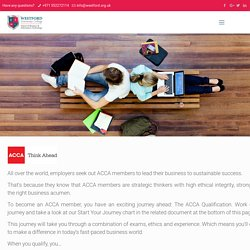 Association of Chartered Certified Accountants (ACCA) - Westford University College UAE