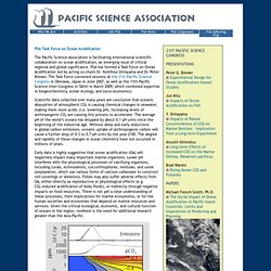 Pacific Science Association - PSA Working Group on Ocean Acidification