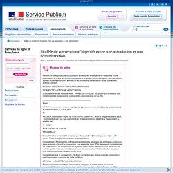 Modèle de convention d'objectifs entre une association et une administration - Lettre type
