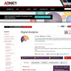 Digital Analytics - ADMA - Association for Data-driven Marketing & Advertising