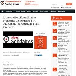 L'association Alpesolidaires recherche un stagiaire F/H Animation-Promotion de l'ESS - Grenoble
