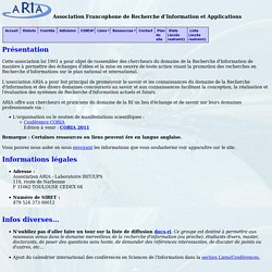 Association Francophone de Recherche d'Information et Applications