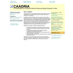 CAADRIA, the Association for Computer-Aided Architectural Design Research in Asia