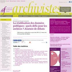 La réutilisation des données publiques : quels défis pour les archives ? Journée de débats