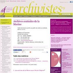 Archives centrales de la Marine