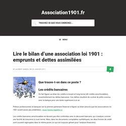 Lire le bilan d'une association loi 1901 : emprunts et dettes assimilées