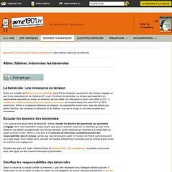 Les bénévoles et l'association - Quelle gestion du bénévolat associatif ?