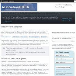 Dissoudre votre association