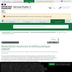 Association reconnue d'utilité publique