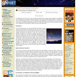 Débuter - Observer - Association Francaise d'Astronomie (AFA)