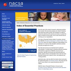 Index of Essential Practices - National Association of Charter School Authorizers