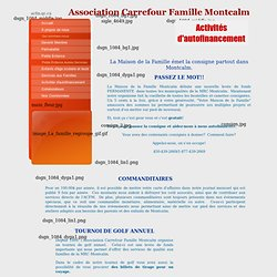 Association Carrefour Famille Montcalm autofinancement