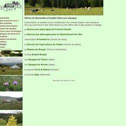 Association des bergers du Jura franco-suisse - Emplois