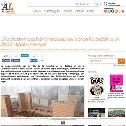 L'Association des Bibliothécaires de France favorable à un dépôt légal numérique