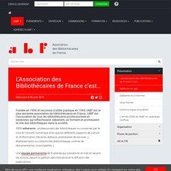 L'Association des Bibliothécaires de France c'est… - Association des Bibliothécaires de France