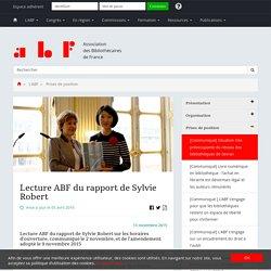 Lecture ABF du rapport de Sylvie Robert (horaires d'ouverture)