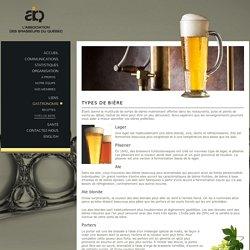 Types de bière - L'association des Brasseurs du Québec