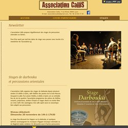 Association Callis - Stages