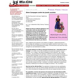 Association Mix-Cité, Communiqués