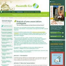 Statuts d'une association collégiale - Sou des écoles publiques de Saint - Association Loi de 1901 et collectif,