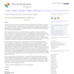 Association The Co-Evolution Project » A la une » Commencements 2 en libre accès en ligne