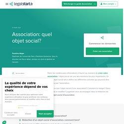 Objet social d'association: comment le rédiger?