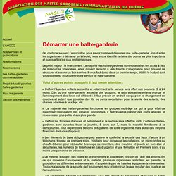 Association des haltes-garderies communautaires du Québec
