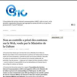 Non au contrôle a priori des contenus sur le Web, voulu par le Ministère de la Culture