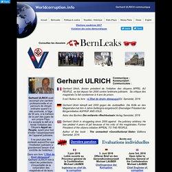Gerhard ULRICH, Président de l'Association Appel au Peuple, communique.