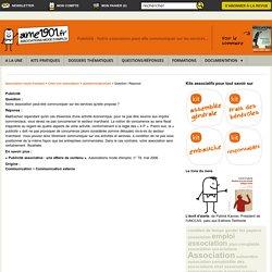 Publicité - Notre association peut-elle communiquer sur les services...