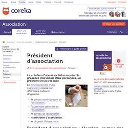 Président d'association : les fonctions - ComprendreChoisir
