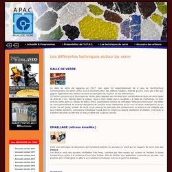 APAC: Association pour le Patrimoine des Arts et de la Culture autour du verre - animations et conférences, été verrier et festival du verre - Palau del vidre - Les techniques autour du verre