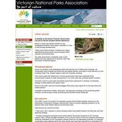 Victorian National Parks Association / Nature Conservation / Urban sprawl