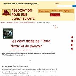 """Les deux faces de """"Terra Nova"""" et du pouvoir - ASSOCIATION POUR UNE CONSTITUANTE"""