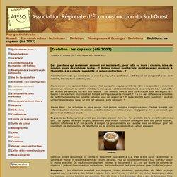 ciation Régionale d'Éco-construction du Sud-Ouest - Isolation: les copeaux (été 2007)