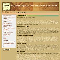 ciation Régionale d'Éco-construction du Sud-Ouest - Charte d'ARESO