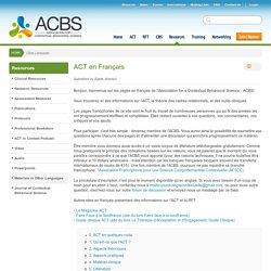 Association for Contextual Behavioral Science