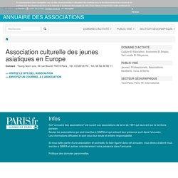 Association culturelle des jeunes asiatiques en Europe