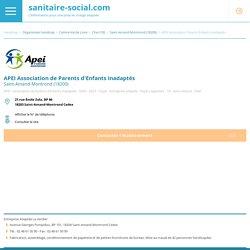 APEI Association de Parents d'Enfants Inadaptés - 18203 Saint-Amand-Montrond - 18 Cher - organismes Handicap - Départemental - Personnes Handicapées