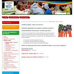 Ateliers philo : mise en oeuvre - Association Départementale du Tarn-et-Garonne