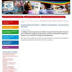 Compte-Rendu de l'atelier « Tablette et Stopmotion » du mercredi 17 (...) - Site de l'Association Départementale du Territoire de Belfort- AD90