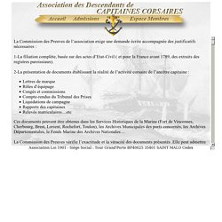 Association des Descendants de Capitaines Corsaires