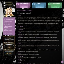 Biographie de Gustave Eiffel