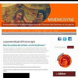 La Journée d'étude 2015 est en ligne : Mnémosyne – Association pour le développement de l'histoire des femmes et du genre