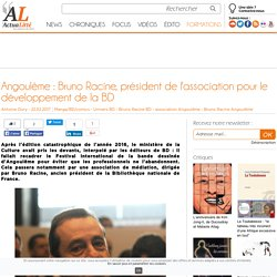 Angoulême : Bruno Racine, président de l'association pour le développement de la BD