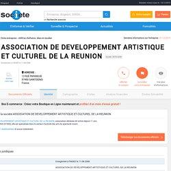 ASSOCIATION DE DEVELOPPEMENT ARTISTIQUE ET CULTUREL DE LA REUNION (SAINT-DENIS) Chiffre d'affaires, résultat, bilans sur SOCIETE.COM - 507914208
